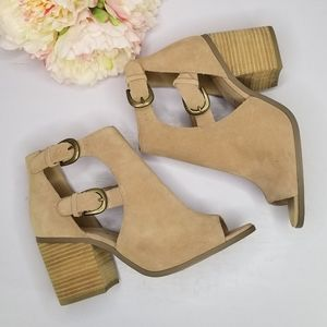 Sole Society Hyperion Caramel open top heels